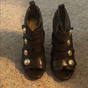 Coach Brown High Heel Booties